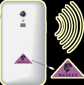 Chip Waveex gắn trên điện thoại di động giúp bảo vệ sức khỏe và não bộ